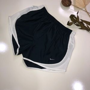 Nike navy blue sport shorts with white mesh detail